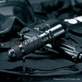 LED tactical flashlight and torch, compact aluminum flashlight