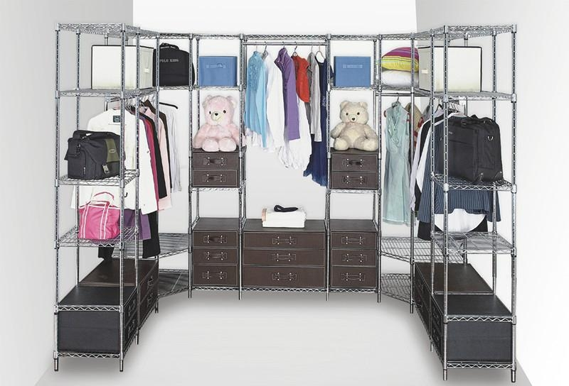 Modern Armoire Metal Bedroom Wardrobe Closet Furniture
