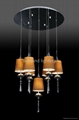 modern pendant lamp, glass pendant light AP5006-7 brown