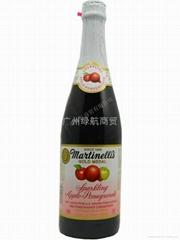 起泡蘋果石榴汁
