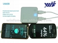 7200mAH dual usb battery charger for mobile phone with lcd screen and led light 2