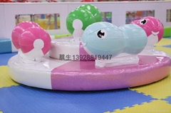 儿童樂園電動軟體類遊藝設施動物轉盤