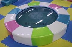 儿童乐园游艺设施七彩海景水床