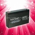 6V7AH storage lead acid battery for