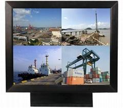 哈咪15寸工业级高清嵌入式金属监视器
