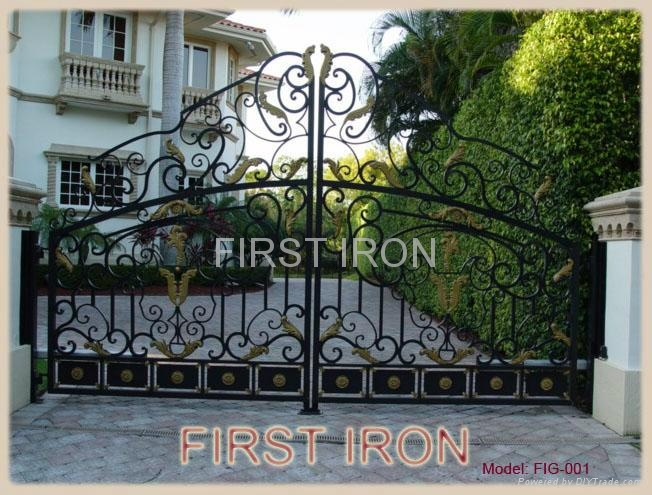 Wrought iron gate 1