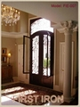 villa iron entry door with glass