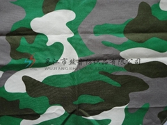 100%cotton camouflage printed fabric for military garment