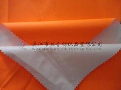 150D fluorescent orange Oxford PU coated Fabric