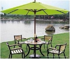 2.5m Wood Patio Umbrella