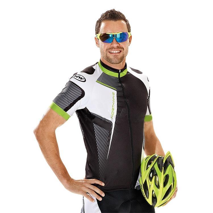NALINI PRO Cycling Short Sleeve Jersey black-grey-red 1