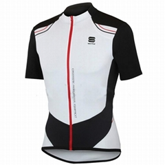 SPORTFUL Sprint cycling Short Sleeve Jersey white-black