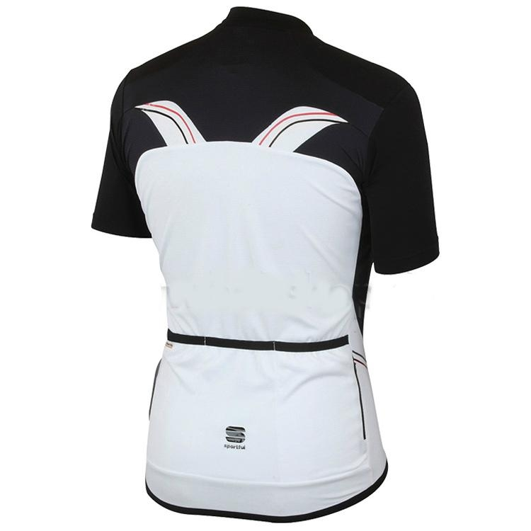 SPORTFUL Sprint cycling Short Sleeve Jersey white-black 2