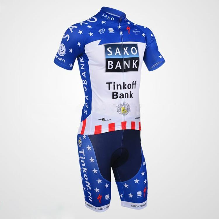 2013 Saxobank Captivate Short Sleeve Cycling Jersey and Cycling Short Kit 5