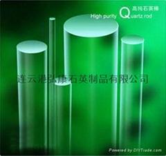 Single crystal growth test quartz rod