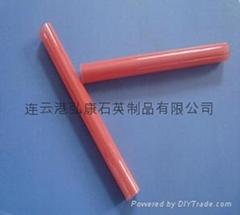 Light ruby/ red quartz tubes,quartz glass tubes