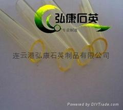 yellow quartz glass tubing,Yellow quartz tubes