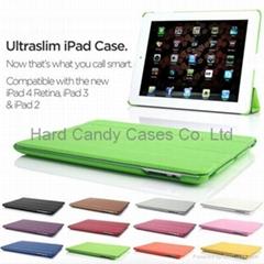 Ultra Slim Leather Smart Case Cover for New iPad 4 Retina, iPad 3 & 2 Sleep Wake