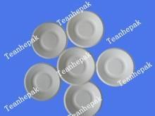biodegradable sugarcane bagasse pulp saucer dishware