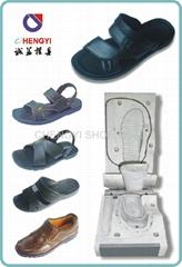 eva with pvc leather casting sandal men
