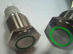 LED stainless steel push button switch