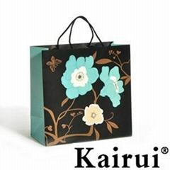 Blue Romantic Floral Paper Gift Bag KR202-2