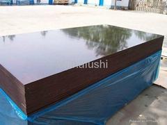 Chocolate brown plywood