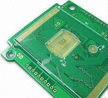 Four-layer Flash Gold PCB, ISO9001 Assured PCB Quality