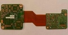 6 Layer Rigid-Flex PCB with Gold Plaing, Rapid Flex-Rigid Board Prototyping