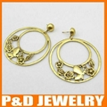 2013 Fashion alloy earring with butterfly