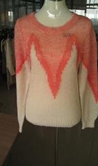 Ladies' Fashion Jacquard  Pullover
