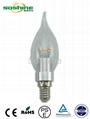 LED high Lumen wall lamp candle bulb 2