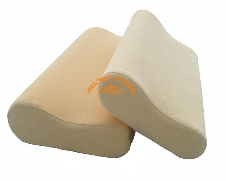 Hot sale, moulded visco elastic memory foam contour pillow  1