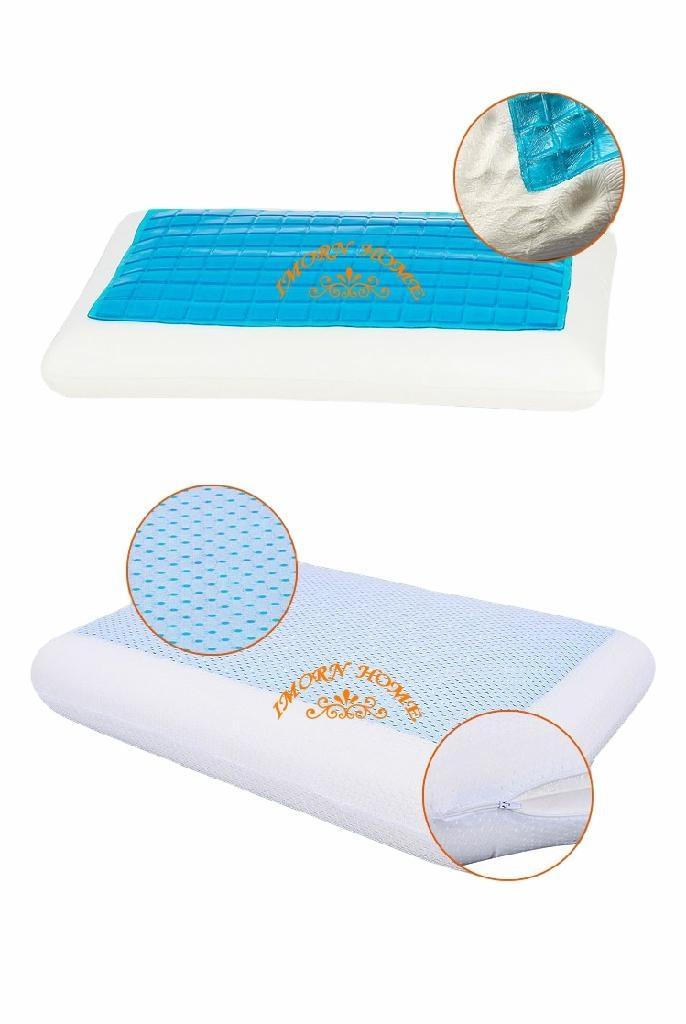High quality Ice gel contour memory foam pillow 2