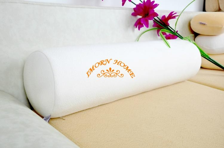 Elegant Moulded Visco Elastic Memory Foam Pillow Cylinder Throw Pillow 1