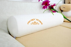 Elegant Moulded Visco Elastic Memory Foam Pillow Cylinder Throw Pillow