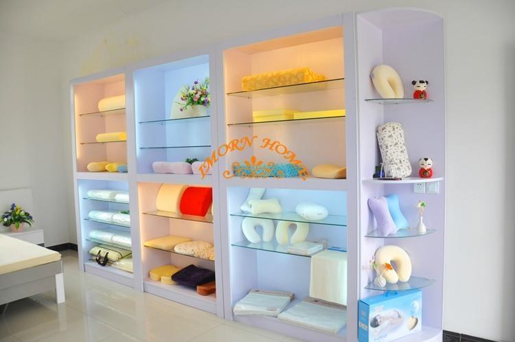 Elegant Moulded Visco Elastic Memory Foam Pillow Cylinder Throw Pillow 5