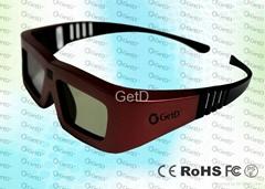 universal 3d active shutter glasses for cinema---GT100