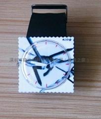邮票塑胶石英表