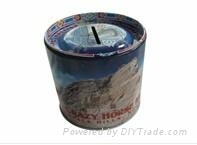 Metal tin money box