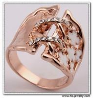 時尚水鑽戒指供應商 義烏合金戒指批發 時尚紅寶石戒指