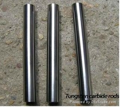 Polished tungsten carbide rod