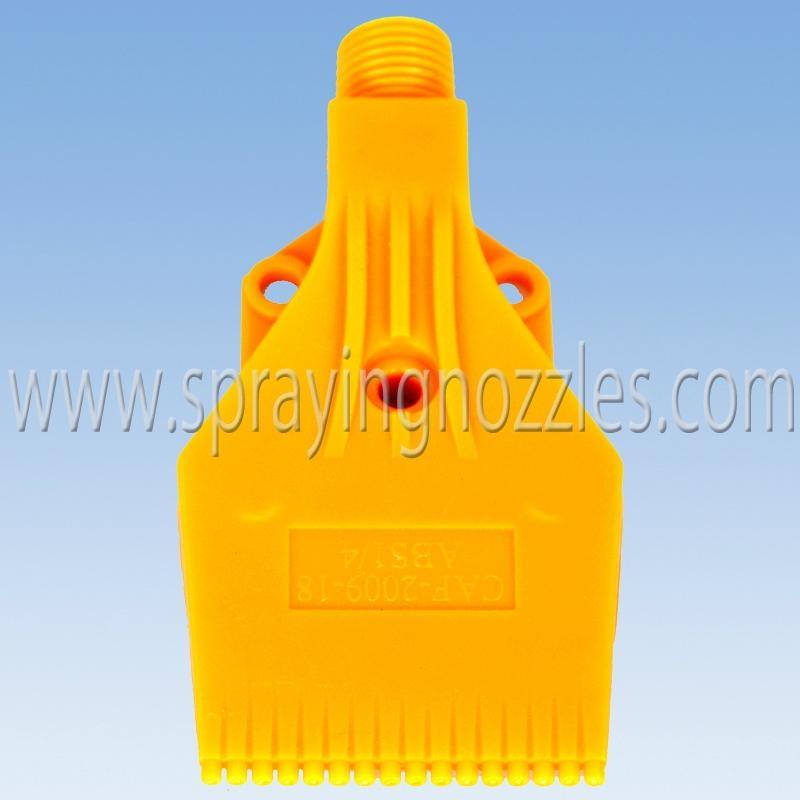 Plastic wind air compression jet flat fan spray nozzle