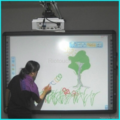 Riotouch dual touch infrared interactive drawing board for smart class
