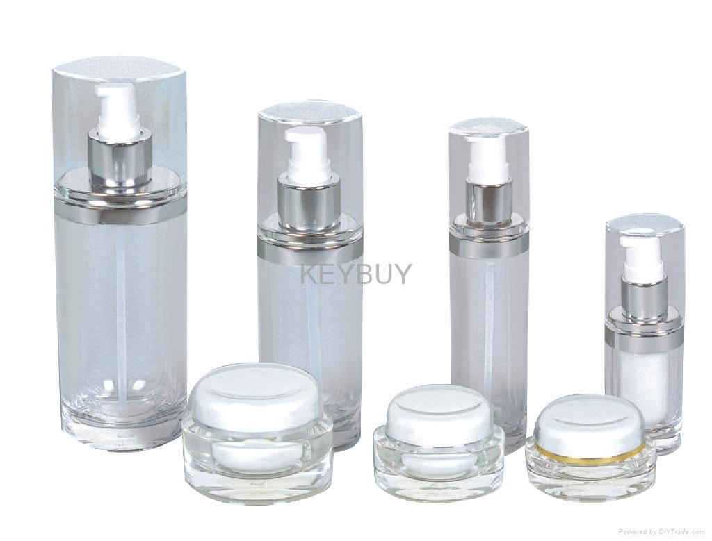 Acrylic Airless Cosmetics Lotion Bottle  3
