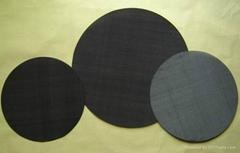 黑絲布圓片
