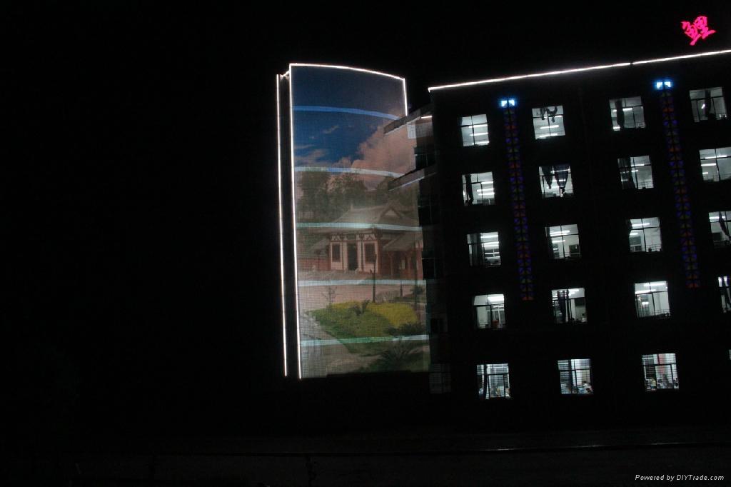 巨幅廣告投影機 戶外廣告投影機 4