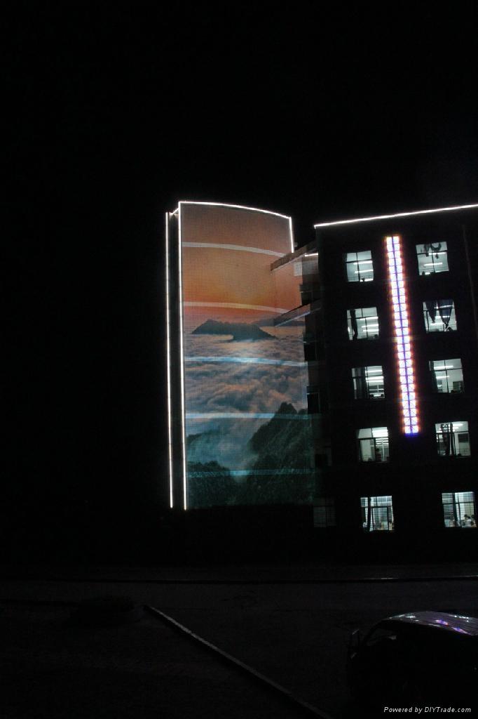 巨幅廣告投影機 戶外廣告投影機 5
