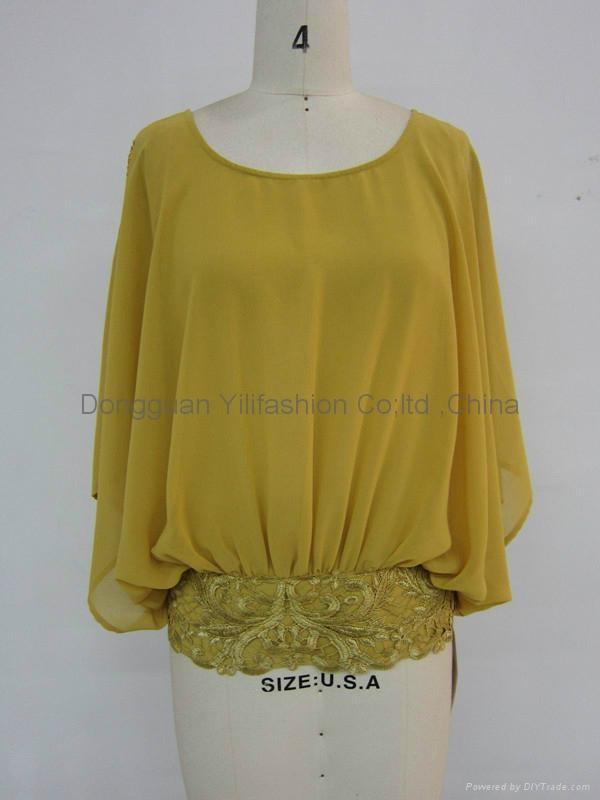 Ladies new design fashion  baggy blouse 1