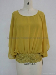 Ladies new design fashion  baggy blouse